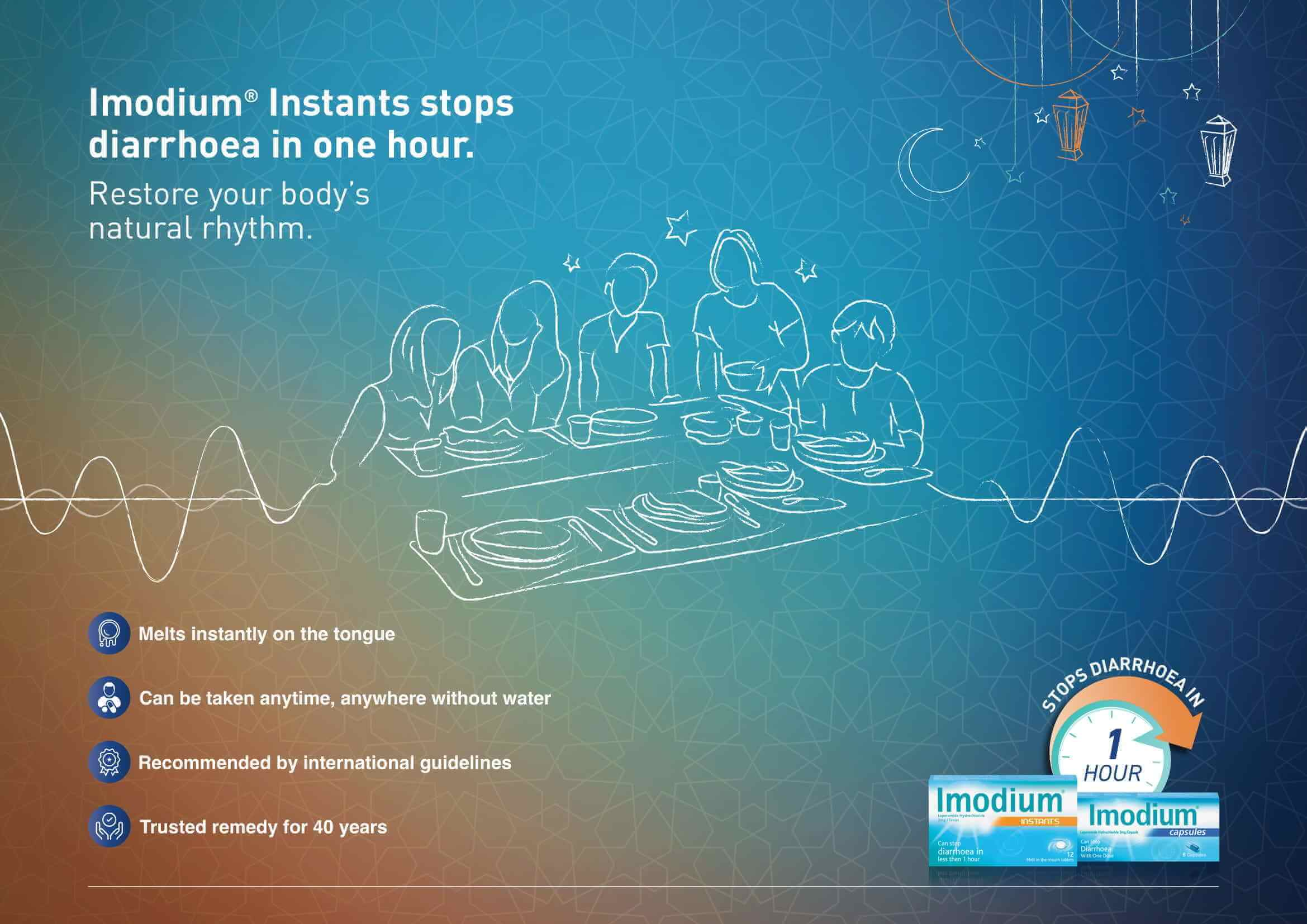 Imodium causes and treatment for diarrhea during Ramadan